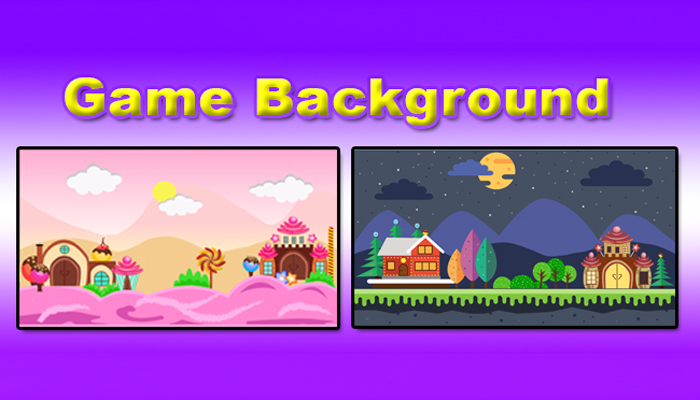 2 Game Background UI Graphic Assets