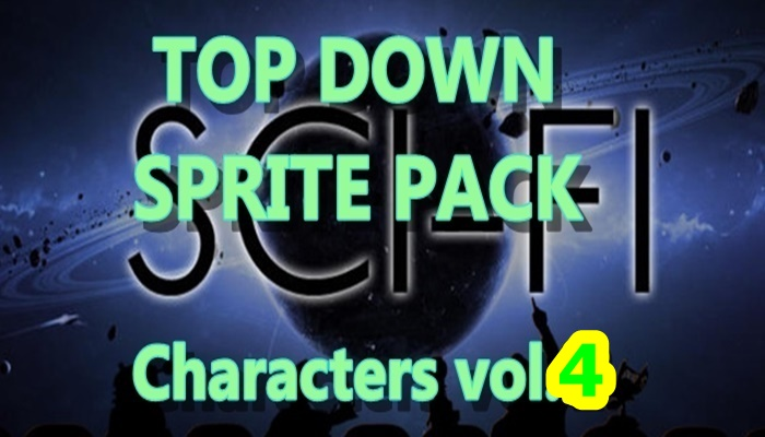 Top Down SCI-FI character pack 4