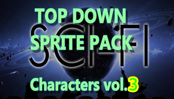 Top Down SCI-FI character pack 3