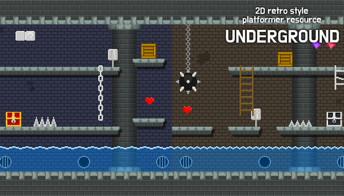 underground – 2D retro background