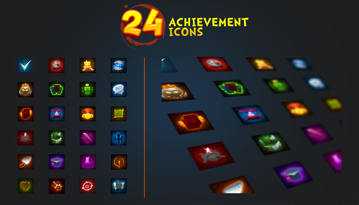 24 achievement icons