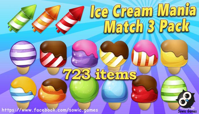 Ice Cream Mania Match 3 Pack
