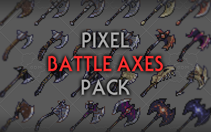 Fantasy Battle Axes – RPG Inventory Icons