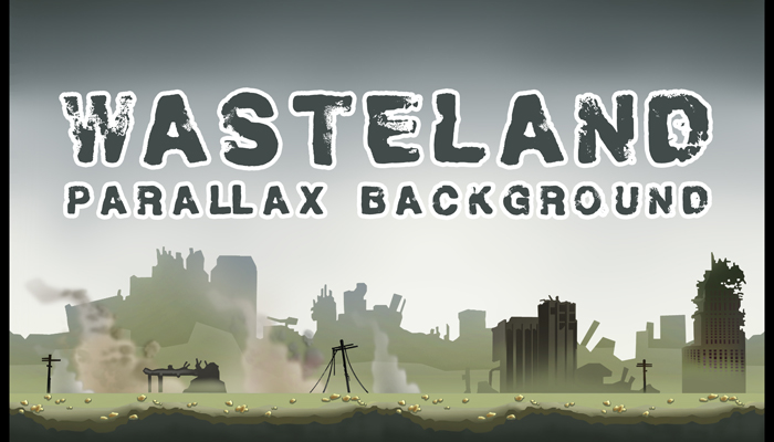 WASTELAND – PARALLAX CITY BACKGROUND