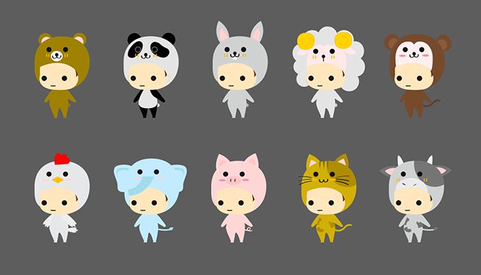 20 Animal costume character animation