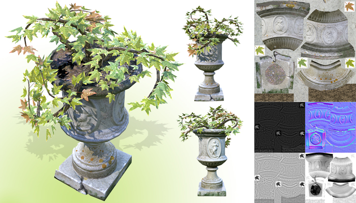Flower Pot Exterior Decoration