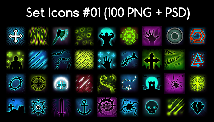 Skill Icon Pack 01