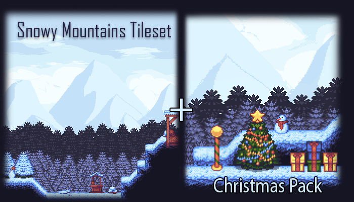 Christmas Pack – Snowy Mountains Tileset
