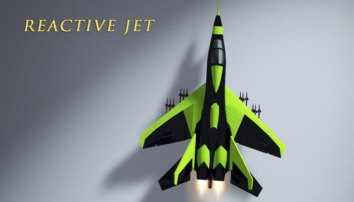 Jet and pilot