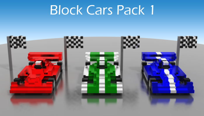 Block Cars Pack 1