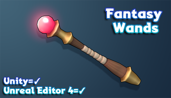Hand-Painted Fantasy Weapons – Wands