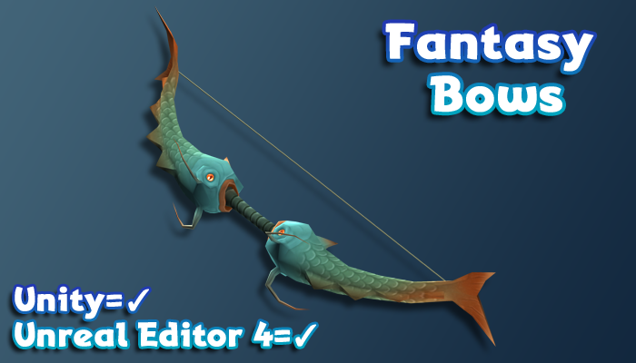 Hand-Painted Fantasy Weapons – Bows and Arrows