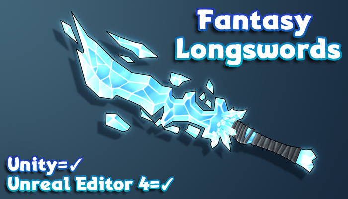 Hand-Painted Fantasy Weapons – Longswords