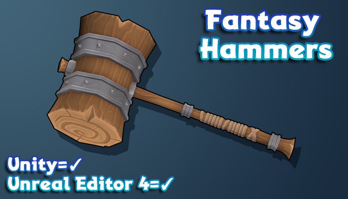 Hand-Painted Fantasy Weapons – Hammers