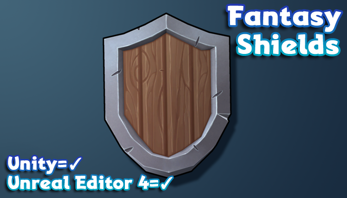 Hand-Painted Fantasy Weapons – Shields