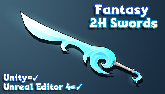 Hand-Painted Fantasy Weapons – 2H Swords