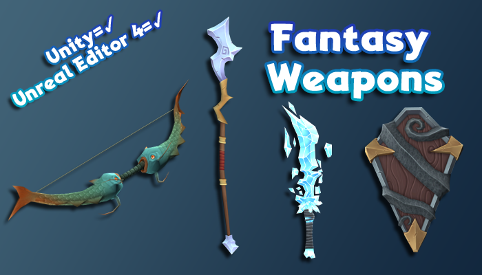 Hand-Painted Fantasy Weapons – Mega Pack!