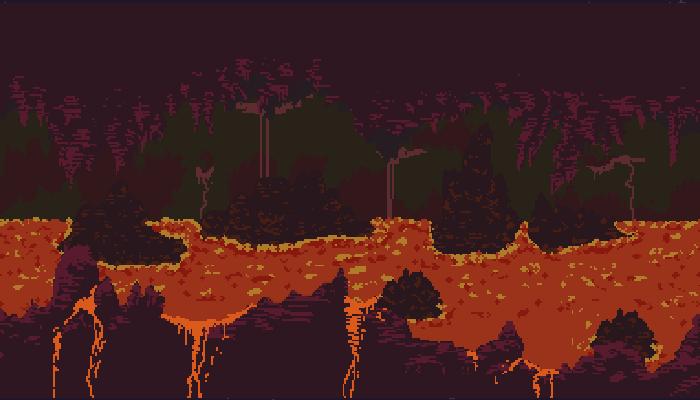 Pixel Lava Cave Parallax BG