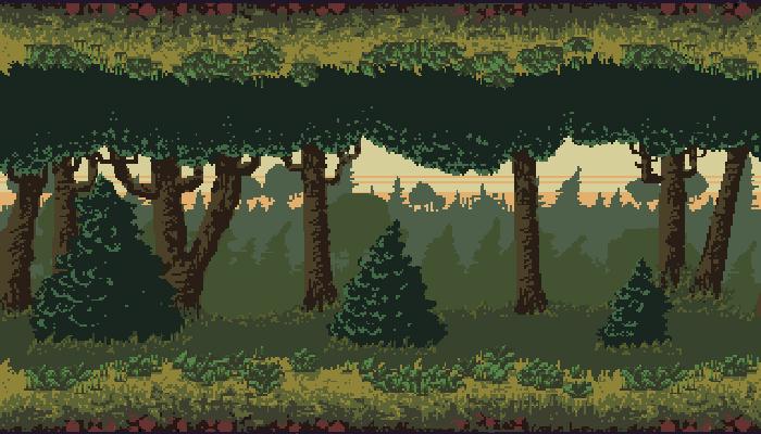 Pixel Forest Parallax BG