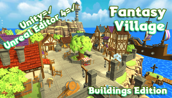 Hand-Painted Fantasy Village Pack – Buildings Edition