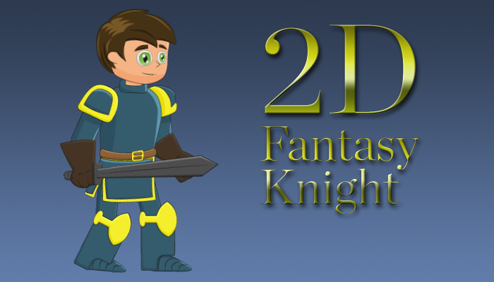 2D Fantasy Knight by Abstractia