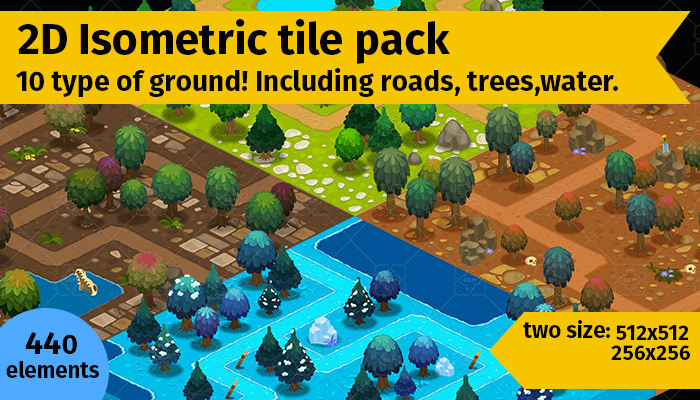2d Isometric tile pack