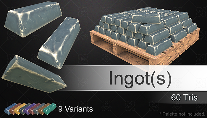 Hand Painted Ingots