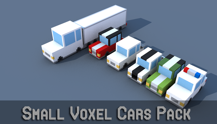 Small Voxel Cars Pack