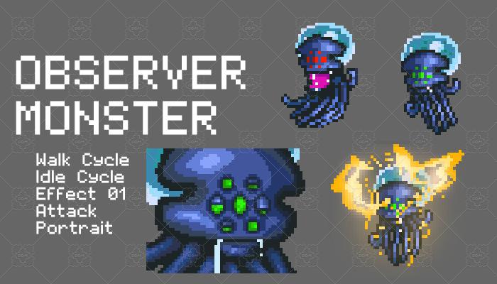 Observer Pixel Monster Set