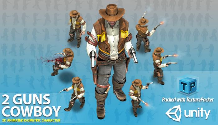 Cowboy with 2 guns