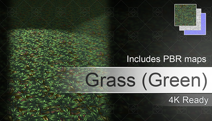 Hand Painted Green Grass Texture