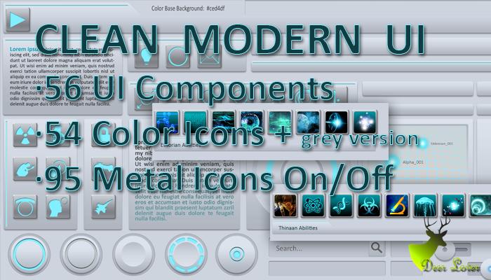 Clean Modern UI -scifi-