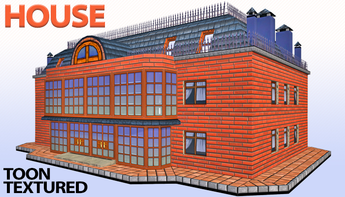Toon Textured Apartment Building