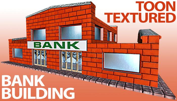 Toon Textured Bank Building