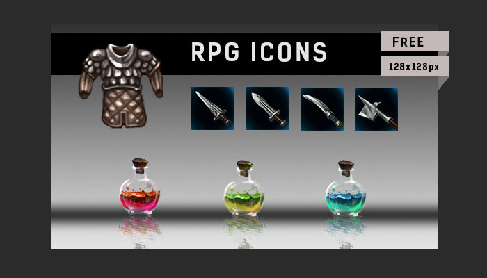 Free RPG icons asset