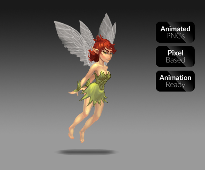 Animated Fairie Character