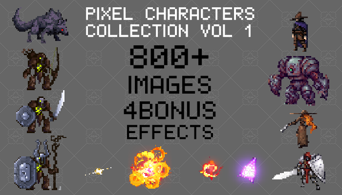 Pixel Characters Collection Vol 1