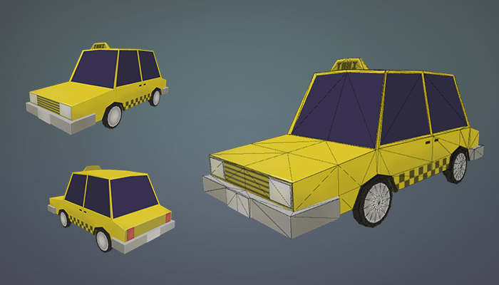 Low Poly Taxi