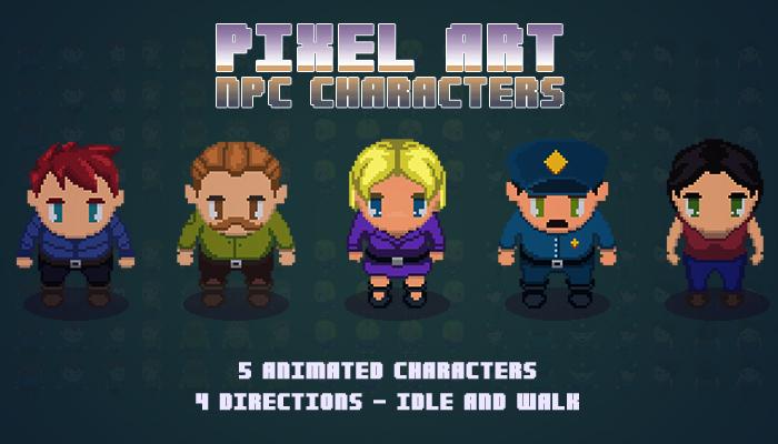 Pixel Art NPC Characters