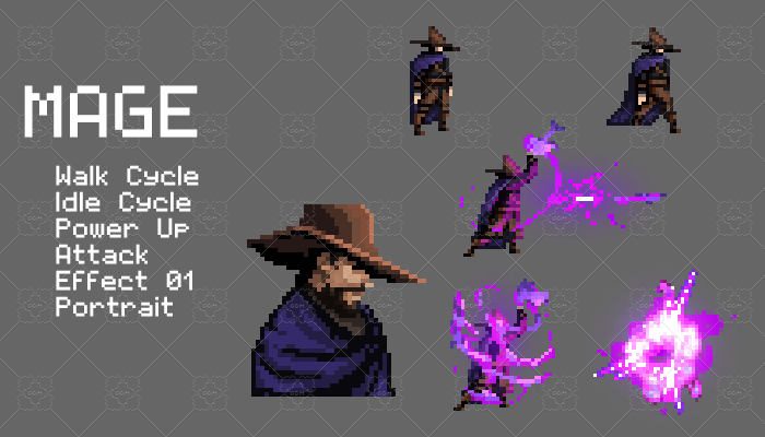 Mage Pixel Character Set