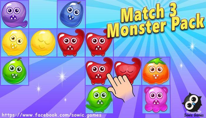 Match 3 Monster Pack