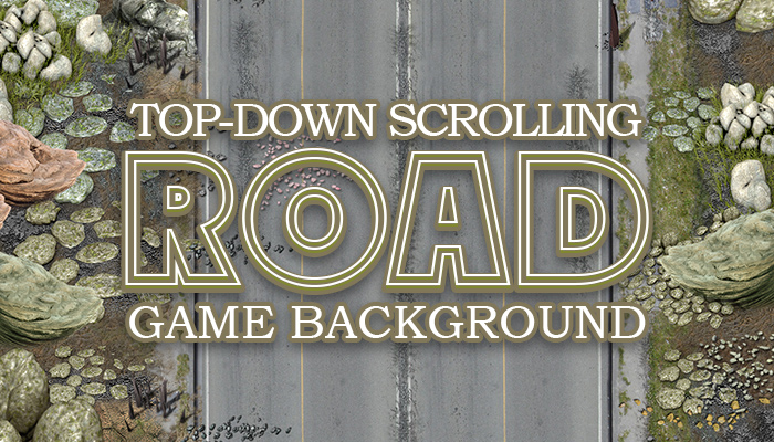 2D SCROLLING ROAD GAME BACKGROUD