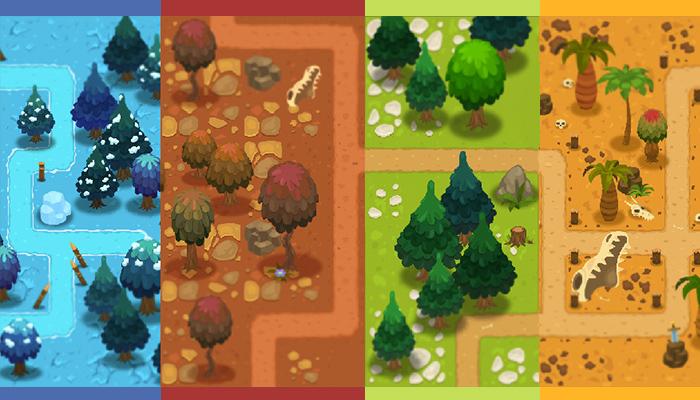 2D Top-Down tile set.