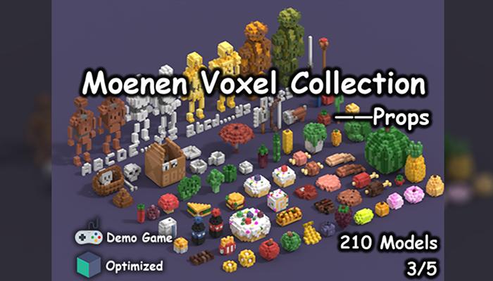 Moenen Voxel Collection 3 Props