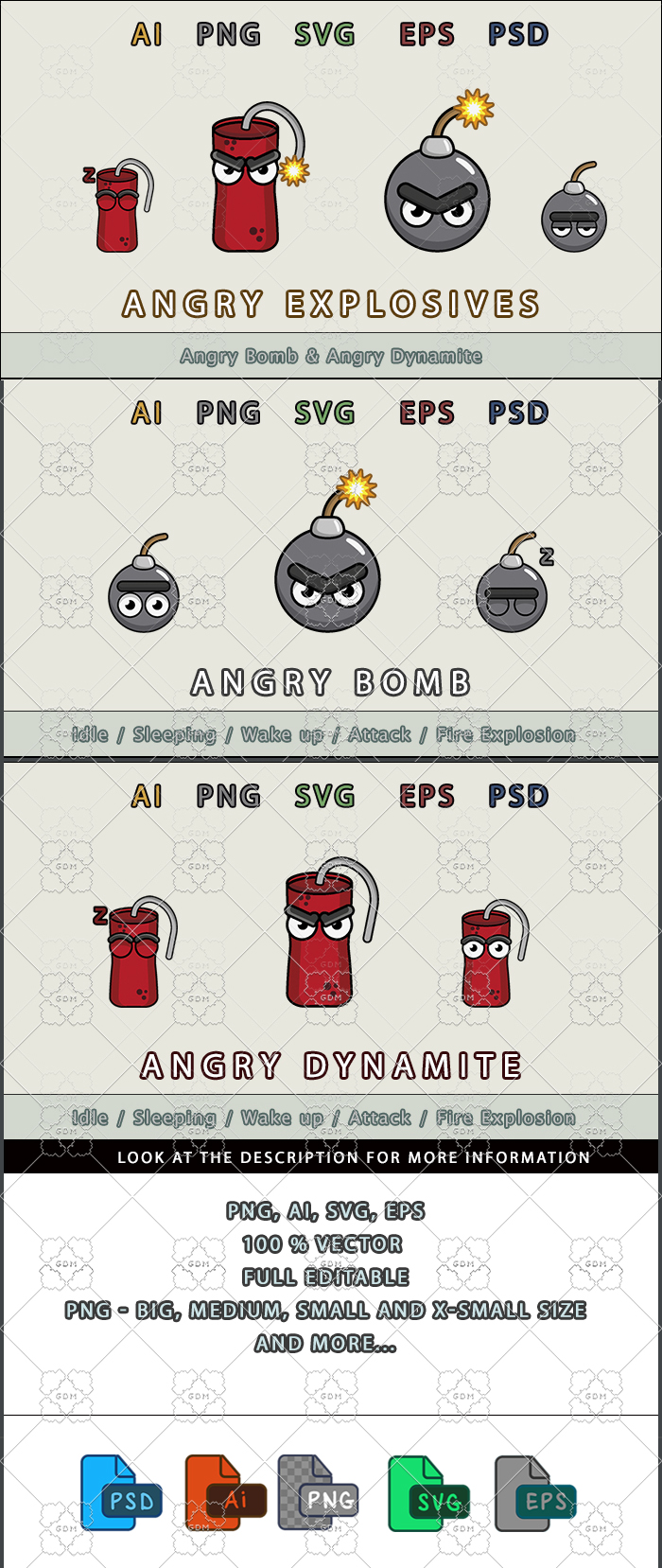 Angry explosives
