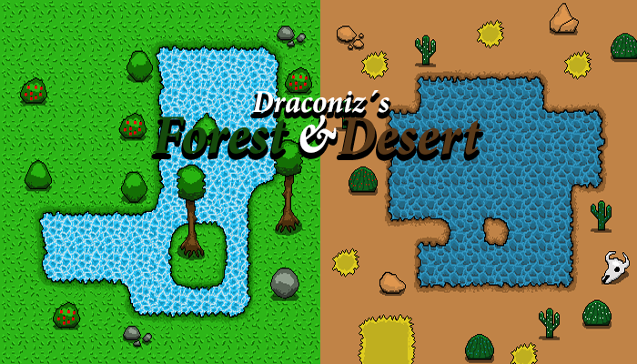 Jungle and Desert Pixel Tilemap Pack