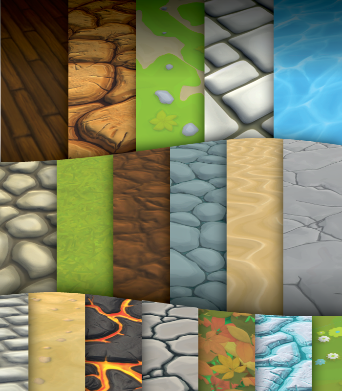 Cartoon Ground and Floor Textures