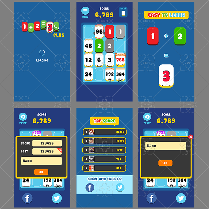 GUI GAME CARTOON