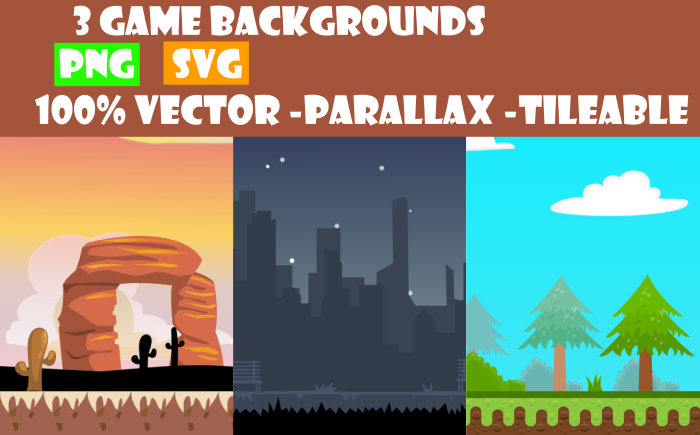 3 Vector Game Backgrounds