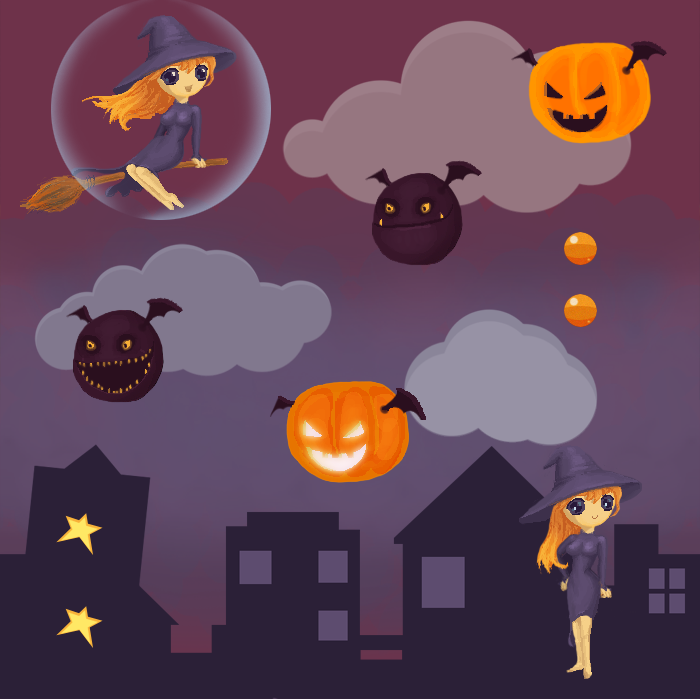 Halloween witch set